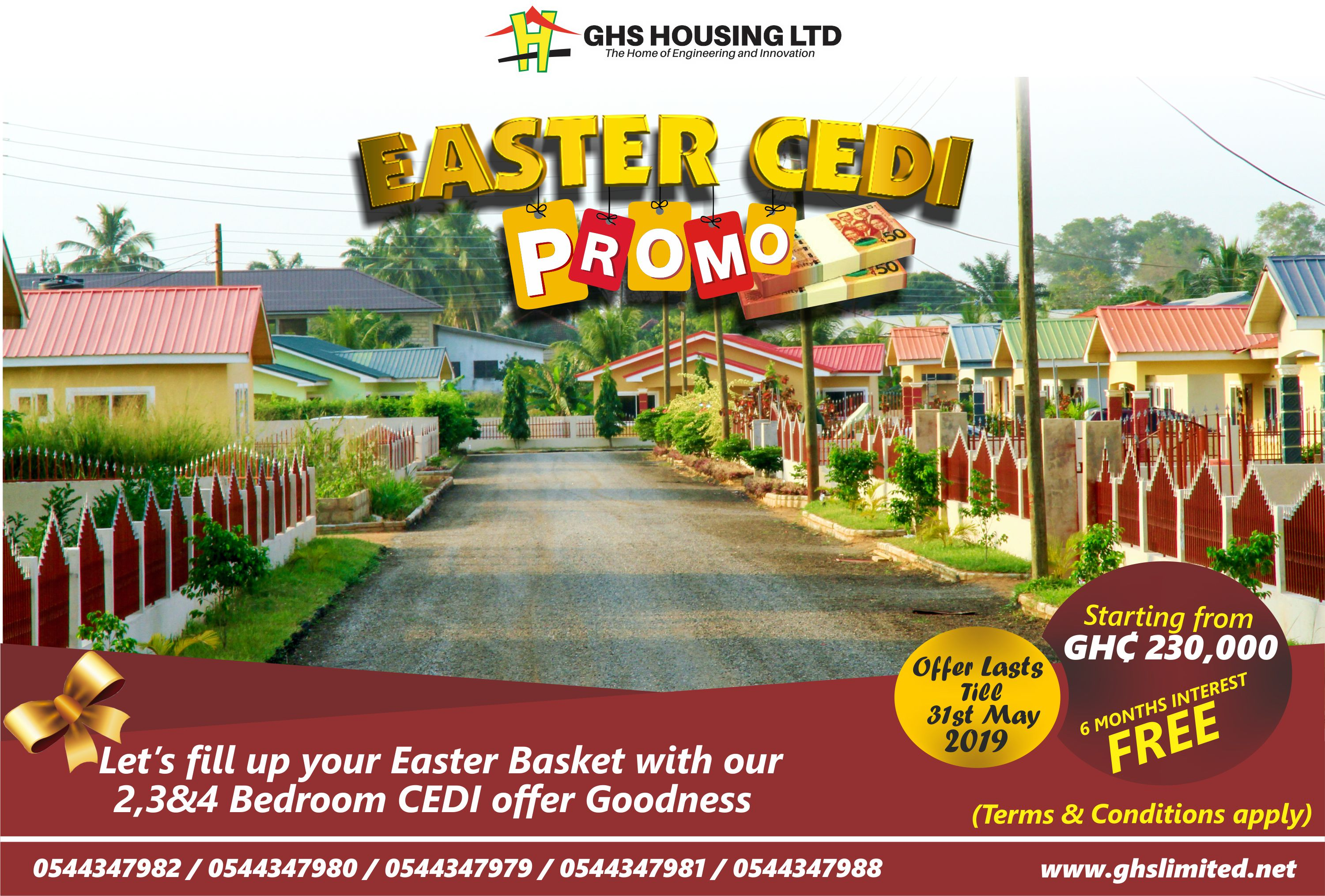 Read more about the article GHS HOUSING LIMITED ROLLS OUT EASTER CEDI PROMO